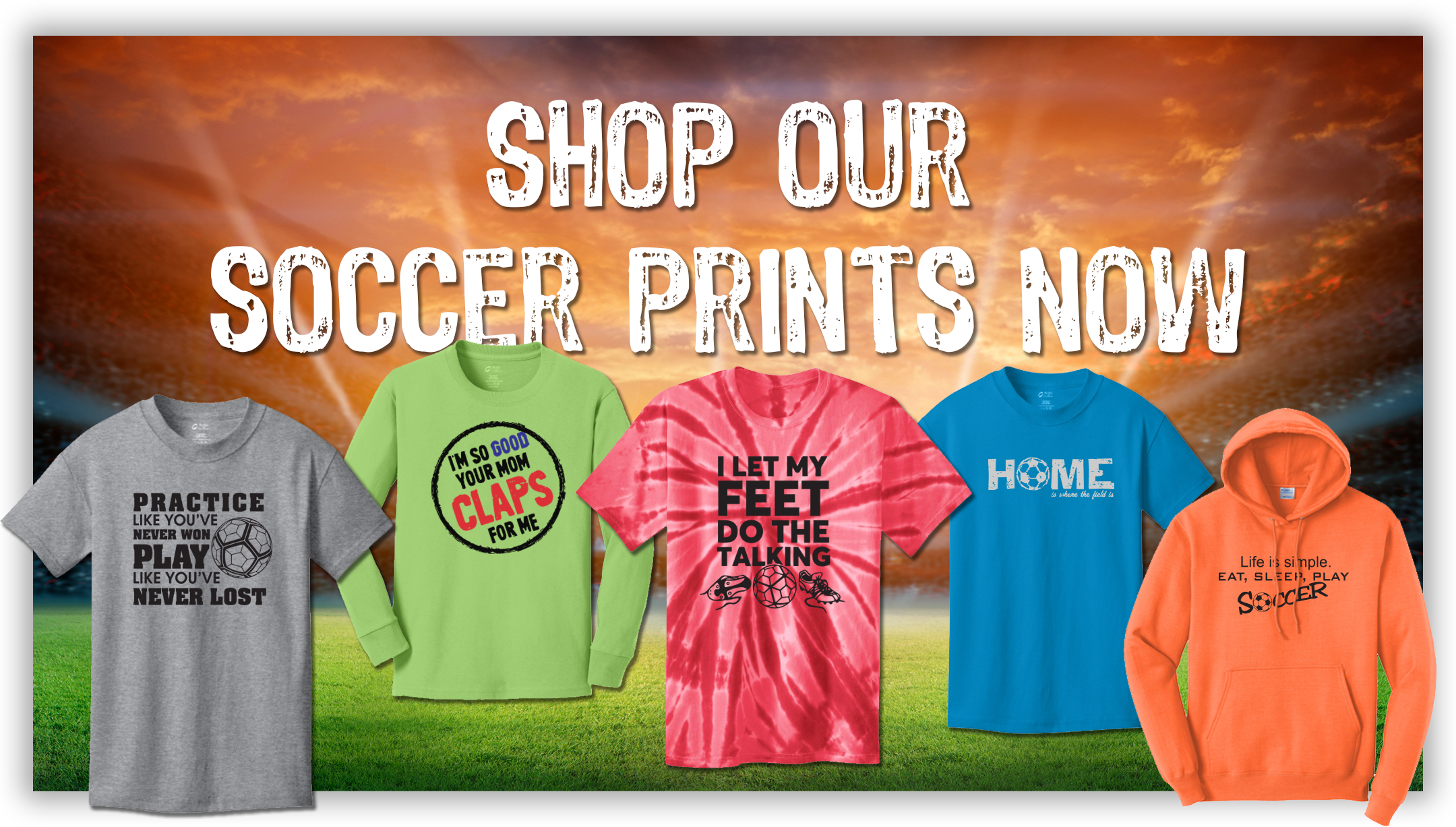 Shop Our Soccer Prints Now!