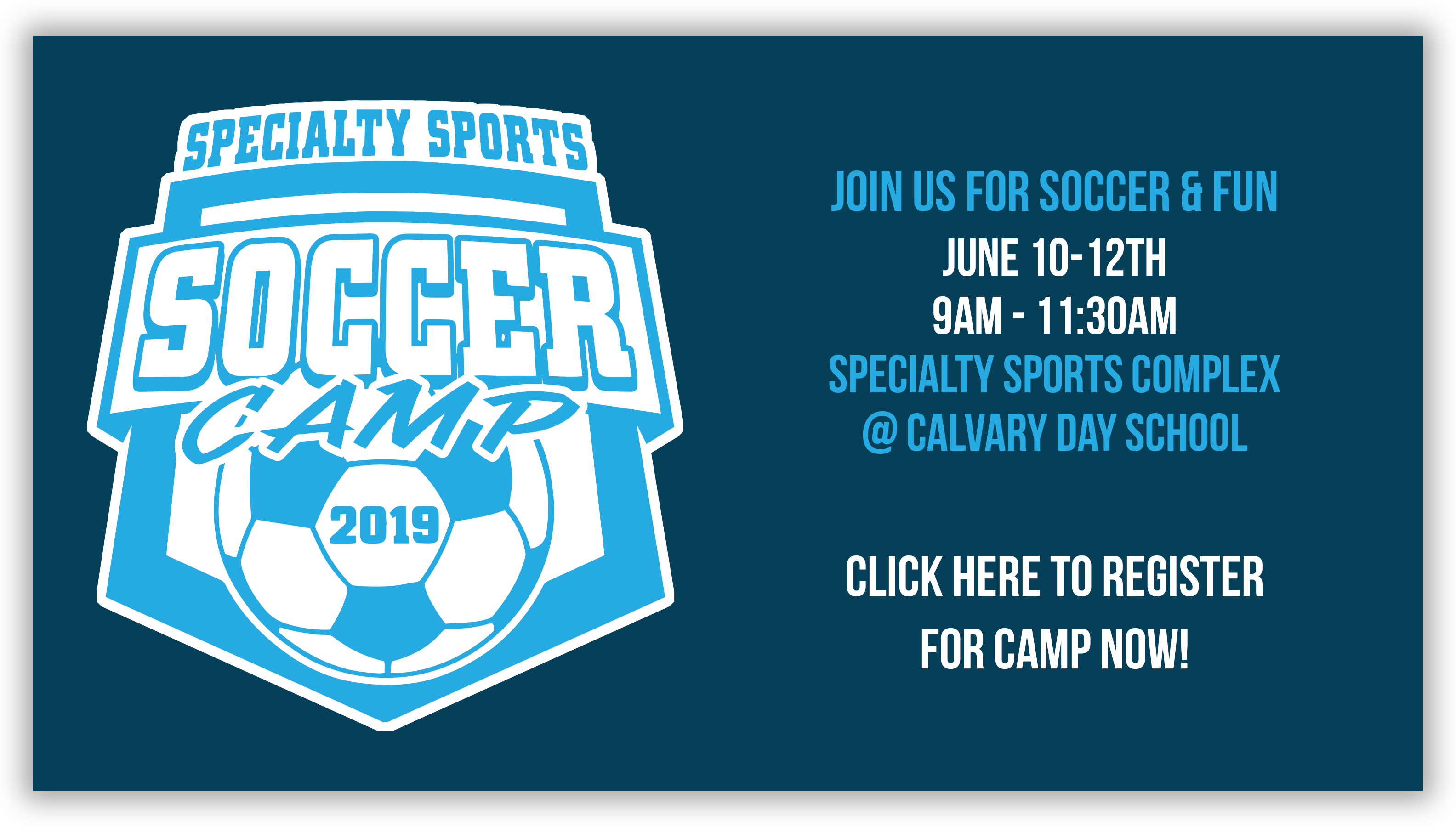 Specialty Sports Soccer Camp 2019